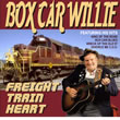 Album cover art for the aim release Freight Train Heart by Box Car Willie